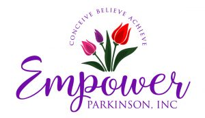 Logo for Empower Parkinson, Inc. Conceive Believe Achieve